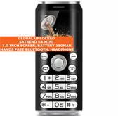 satrend k8 mini bluetooth headphone mp3 music dual sim camera mobile phone black