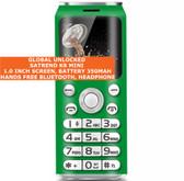 satrend k8 mini bluetooth headphone mp3 music dual sim camera mobile phone green