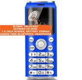 satrend k8 mini bluetooth headphone mp3 music dual sim camera mobile phone blue