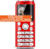 satrend k8 mini bluetooth headphone mp3 music dual sim camera mobile phone red
