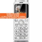 satrend k8 mini bluetooth headphone mp3 music dual sim camera mobile phone white