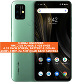 "umidigi power 3 4gb 64gb octa core 48mp fingerprint 6.53"" android 10 lte green"