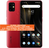 "umidigi power 3 4gb 64gb octa core 48mp fingerprint 6.53"" android 10 lte red"