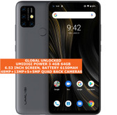 "umidigi power 3 4gb 64gb octa core 48mp fingerprint 6.53"" android 10 lte grey"