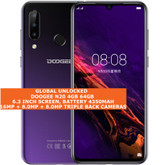 "doogee n20 4gb 64gb octa core 16mp fingerprint 6.3"" android smartphone lte purple"