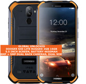 "doogee s40 lite rugged 2gb 16gb waterproof 8.0mp fingerprint 5.5"" android orange"