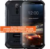 "doogee s40 lite rugged 2gb 16gb waterproof 8.0mp fingerprint 5.5"" android black"