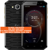 e&l s50 3gb 32gb waterproof 13mp fingerprint 5.0mp android smartphone lte black