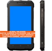 "santin #armor plus rugged 2gb 16gb waterproof 16mp fingerprint 5"" android black"
