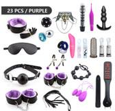 handcuffs bdsm bondage adult games products cuffs sex toys couples 23pcs purple
