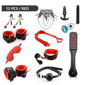 handcuffs bdsm bondage adult games products cuffs sex toys couples 12pcs red