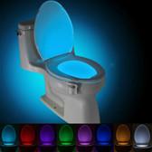led toilet light bathroom washroom body auto motion sensor toilet lamp blue