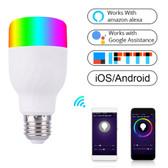 led light bulb e27 rgb dimming wifi smart led light bulb colorful light