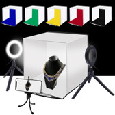 puluz 30cm folding portable ring light photo lighting studio shooting tent black