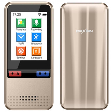 """w5 wifi smart translator 2.4"""" touch screen support 75 languages android 4.4 gold"""