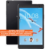 "lenovo tab4 plus tb-8704f 4gb 64gb octacore 8.0mp fingerprint 8.0"" android black"