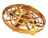 mini ufo rc flying drone helicopter induction aircraft quality rc toys kids gold