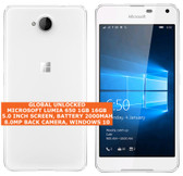 "microsoft lumia 650 16gb quad-core single sim 8mp 5.0"" windows 10 mobile lte white"