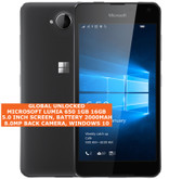 "microsoft lumia 650 16gb quad-core single sim 8mp 5.0"" windows 10 mobile lte black"