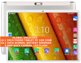 10.1inch phone tablet 32gb quad core 5.0mp camera wifi 3g android silver + gifts
