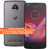 "motorola moto z2 play xt1710-01 3gb 32gb 12mp fingerprint 5.5"" smartphone grey"