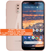 "nokia 4.2 3gb 32gb octa-core 13mp fingerprint id 5.71"" android smartphone pink"