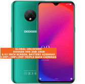 "doogee x95 2gb 16gb quad core 13mp face id dual sim 6.52"" android 4g lte green"
