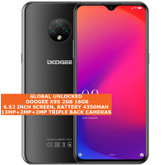 "doogee x95 2gb 16gb quad core 13mp face id dual sim 6.52"" android 4g lte black"