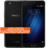 "meizu u20 3gb 32gb octa-core 13mp fingerprint 5.5"" android smartphone lte black"