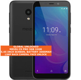 "meizu c9 pro 3gb 32gb quad core 13mp face unlock 5.45"" android smartphone black"
