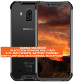 "blackview bv9600e 4gb 128gb waterproof 16mp fingerprint 6.21"" android lte silver"