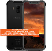 "blackview bv9600e 4gb 128gb waterproof 16mp fingerprint 6.21"" android lte grey"