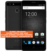 "vernee thor e 3gb 16gb octa core 13mp fingerprint 5.0"" android smartphone black"