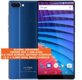 "vernee mix 2 4gb 64gb octa core 13mp fingerprint 6.0"" android smartphone 4g blue"