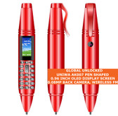uniwa ak007 pen shaped 0.08mp back camera 0.96 inch wireless fm 2g phone red