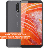 "nokia 3.1 plus 3gb 32gb octa core 13mp hdr fingerprint 6.0"" android 9.0 smartphone gray"
