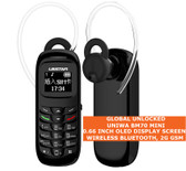 uniwa bm70 wireless bluetooth 0.66 inch music phone book mini mobile 2g black
