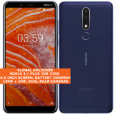 "nokia 3.1 plus 2gb 32gb octa core 13mp hdr fingerprint 6.0"" android 9.0 smartphone blue"