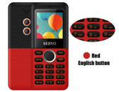 servo m25 bluetooth fm dual sim camera english keyboard mini pocket phone red