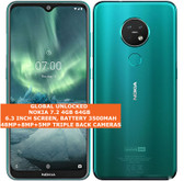 nokia 7.2 4gb/64gb dual sim cards snapdragon 660 48mp camera android lte green