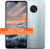 nokia 7.2 4gb/64gb dual sim cards snapdragon 660 48mp camera android 4g lte Ice