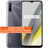 "realme c3 3gb 64gb octa core 12mp fingerprint 6.5"" android smartphone gray"