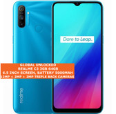 "realme c3 3gb 64gb octa core 12mp fingerprint 6.5"" android smartphone blue"