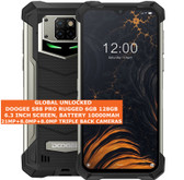 "doogee s88 pro rugged 6gb 128gb waterproof 21mp fingerprint 6.3"" android black"