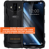 "doogee s90 pro rugged 6gb 128gb waterproof 16mp face id 6.18"" android 9.0 black"