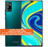 """cubot p40 4gb 128gb quad-core 12mp face id 6.2"""" dualsim android smartphone green"""
