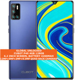 """cubot p40 4gb 128gb quad-core 12mp face id 6.2"""" dualsim android smartphone blue"""