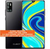 "cubot p40 4gb 128gb quad-core 12mp face id 6.2"" dualsim android smartphone black"