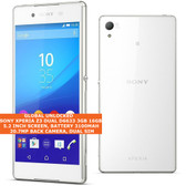 "sony xperia z3 dual d6633 3gb 16gb quad-core 20.7mp dual sim 5.2"" android white"