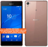 "sony xperia z3 dual d6633 3gb 16gb quad-core 20.7mp dual sim 5.2"" android copper"